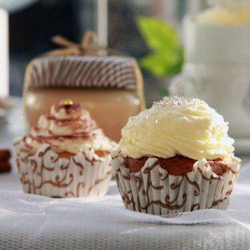 Rezept Espresso-Cupcakes mit Eierlikör-Creme