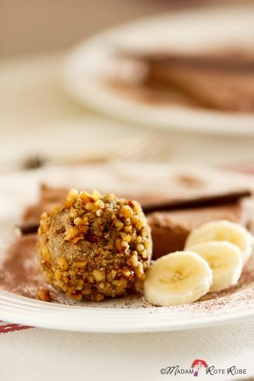 Rezept Espressokugel mit Schokoladeneis und Banane