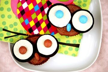 Rezept Eulen Cupcakes
