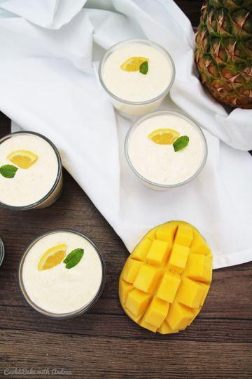 Rezept Exotische Mousse mit Mango und Ananas