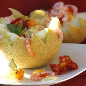Rezept Exotischer Melonen-Krabbensalat
