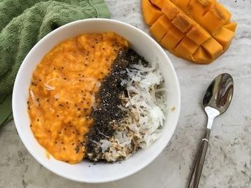 Rezept Exotisches Kokos-Mango-Oatmeal