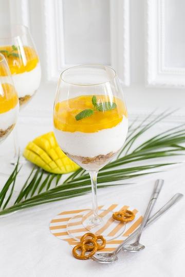 Rezept Exotisches Mango-Maracuja Schichtdessert