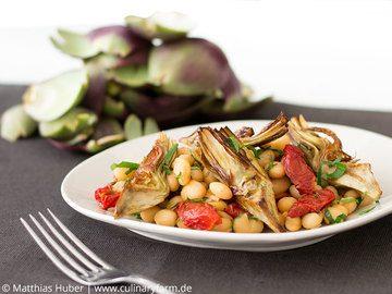 Rezept Fagiolo Zolfino mit Tomaten und Artischockenherzen