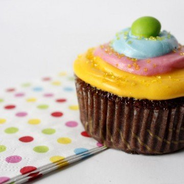 Rezept Farbenfrohe Schokoladen Cupcakes