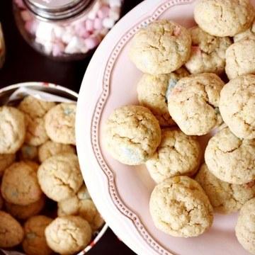 Rezept Farbenfrohe Vanille Schokoladen Cookies