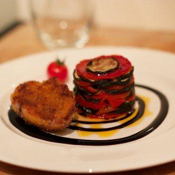 Rezept Fasan, Paprika-Zucchini-Törtchen und Balsamico