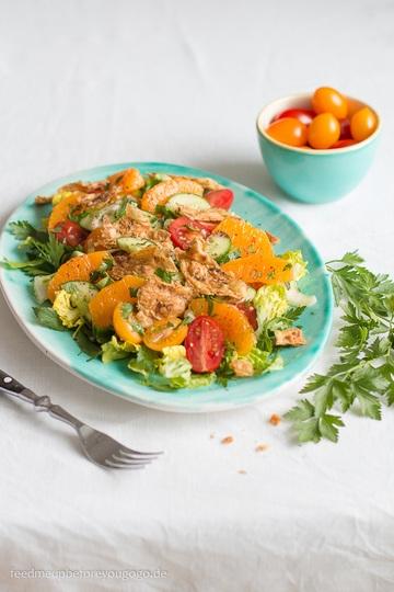 Rezept Fattoush mit Orangen