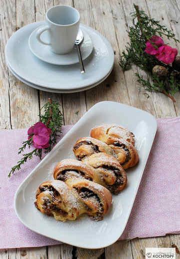 Rezept Feigen-Marzipan-Pudding-Schnecken