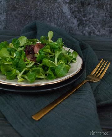 Rezept  Feldsalat mit Cranberry-Schalotten
