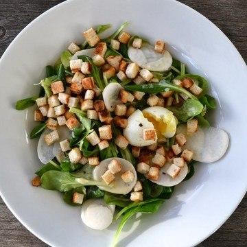Rezept Feldsalat mit Kartoffeldressing