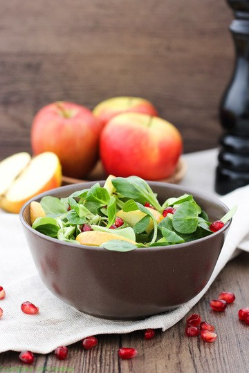 Rezept Feldsalat mit zweierlei Äpfeln