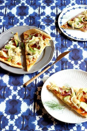 Rezept Fenchel-Pizza mit Ziegenkäse