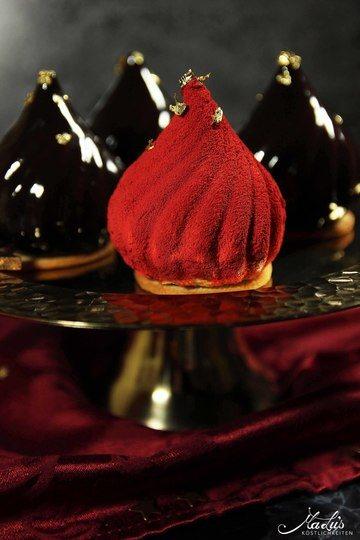 Rezept Festliche Karamell-Schokoladen Törtchen