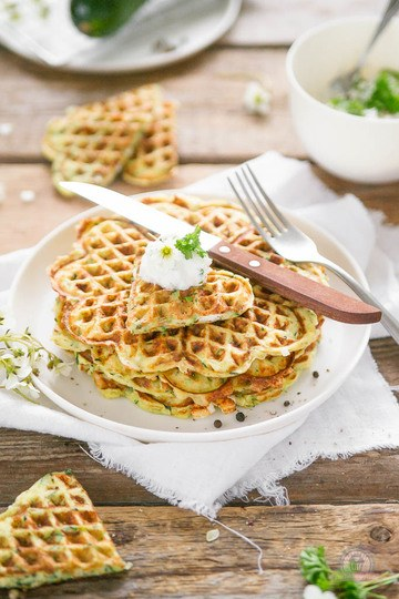 Rezept Feta-Zucchiniwaffeln