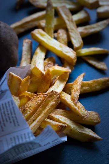 Rezept Fettfreie knusprige Pommes aus der Heißluftfritteuse