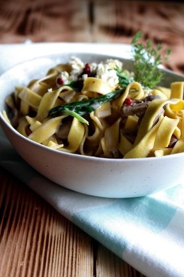 Rezept Fettuccine mit Pilzen, Thymian und Feta