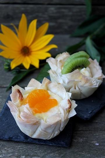 Rezept Filoteig Muffins mit zweierlei Füllung