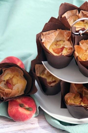 Rezept Filoteig-Puddings-Pfirsich-Muffins