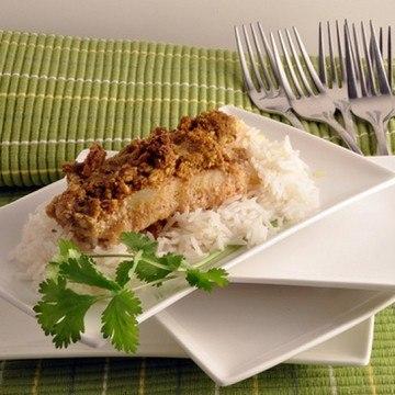 Rezept Fisch in einem Mandelmantel