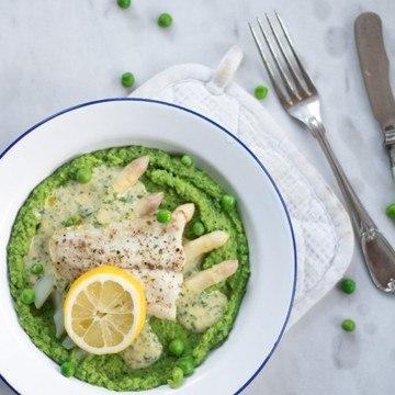 Rezept Fischfilet mit Basilikumerbsen