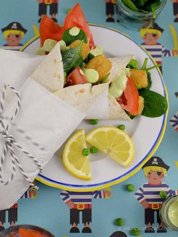 Rezept Fischstäbchen-Wraps