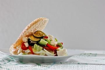 Rezept Fladenbrot mit Zucchini und Feta
