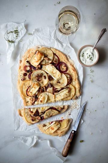 Rezept Flammkuchen mit Apfel und Brie