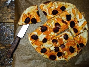 Rezept Flammkuchen mit Chorizo und Hokkaido
