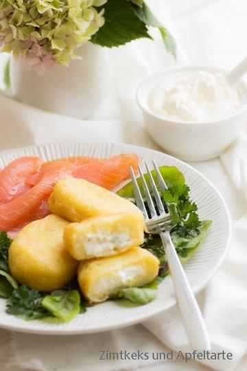 Rezept Fluffige gefüllte Kartoffeltaschen mit Lachs
