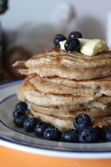 Rezept fluffy, protein-packed Blueberry-Pancakes