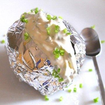 Rezept Folienkartoffel mit Quark