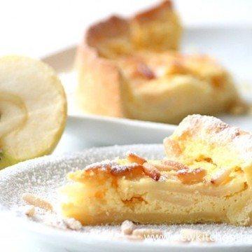 Rezept Französische Apfeltarte mit Pinienkernen