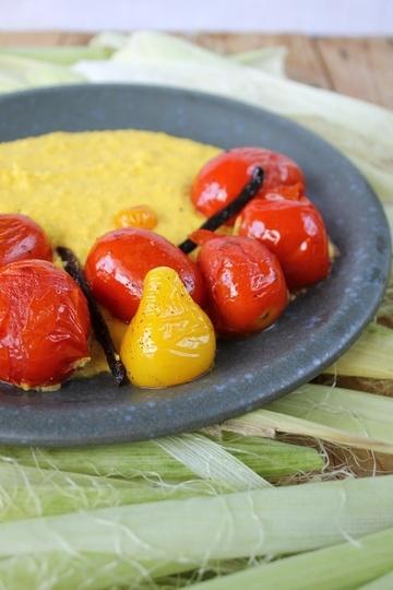 Rezept Frische Polena mit gebratenen Vanille-Tomaten