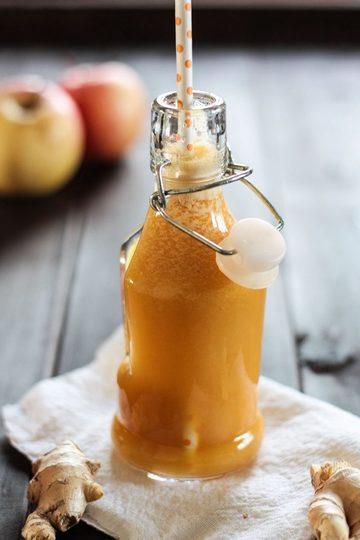 Rezept Frischer Apfelsaft mit Ingwer gegen die Erkältungszeit