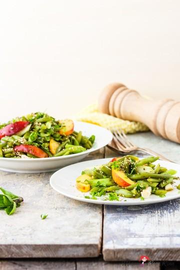 Rezept Frischer grüner Bohnensalat mit Nektarine
