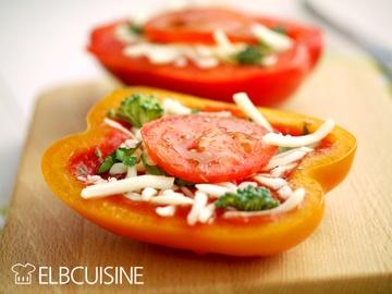 Rezept Fröhlich bunte Paprika-Pizza – Fast Food in gesund