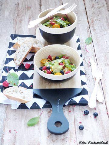 Rezept Frucht Salat mit Mangold und Hirse