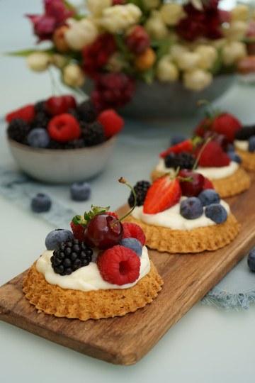 Rezept Früchtetartelettes mit Puddingcreme