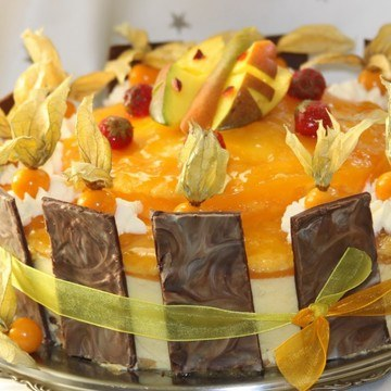 Rezept Fruchtetraum Mango-Erdbeer-Torte