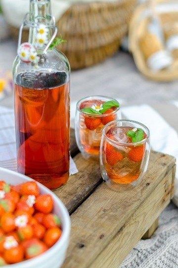 Rezept Fruchtige Erdbeerlimonad
