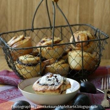 Rezept Fruchtige Pflaumen-Zimt-Walnuß-Schnecken
