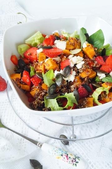 Rezept fruchtiger Kürbis Quinoa Salat