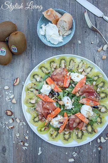 Rezept Fruchtiger Salat mit Zespri Kiwi, Papaya & Ziegenfrischkäse