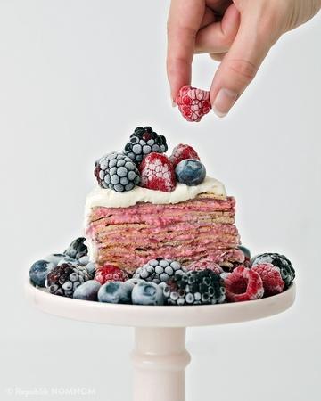 Rezept Fruchtiges Crêpe-Törtchen!