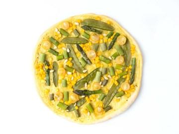 Rezept Frühlingspizza mit grünem Spargel