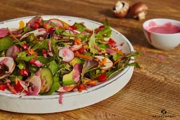 Rezept Frühlingssalat mit Himbeerdressing