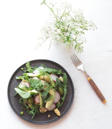 Rezept Frühlingssalat mit Honig-Senf-Dressing