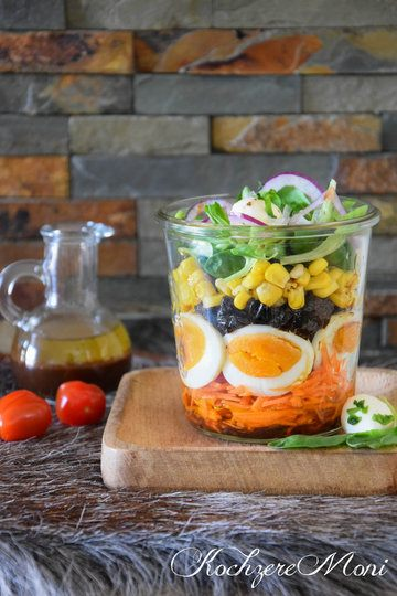 Rezept Frühlingssalat mit Pflaumendressing im Glas