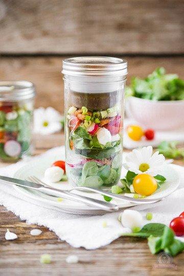 Rezept Frühlingssalat to go